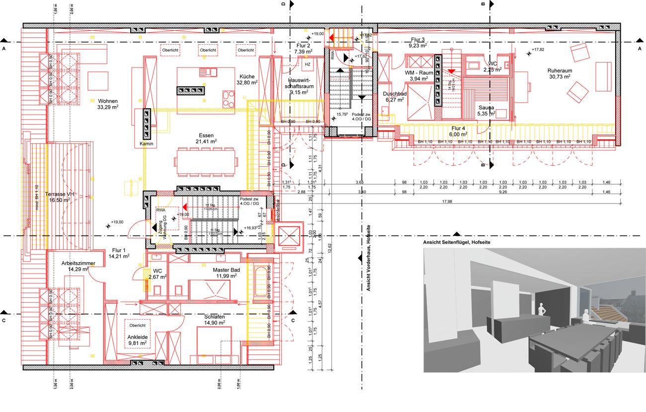 Dachgeschossausbau in Berlin-Friedrichshain