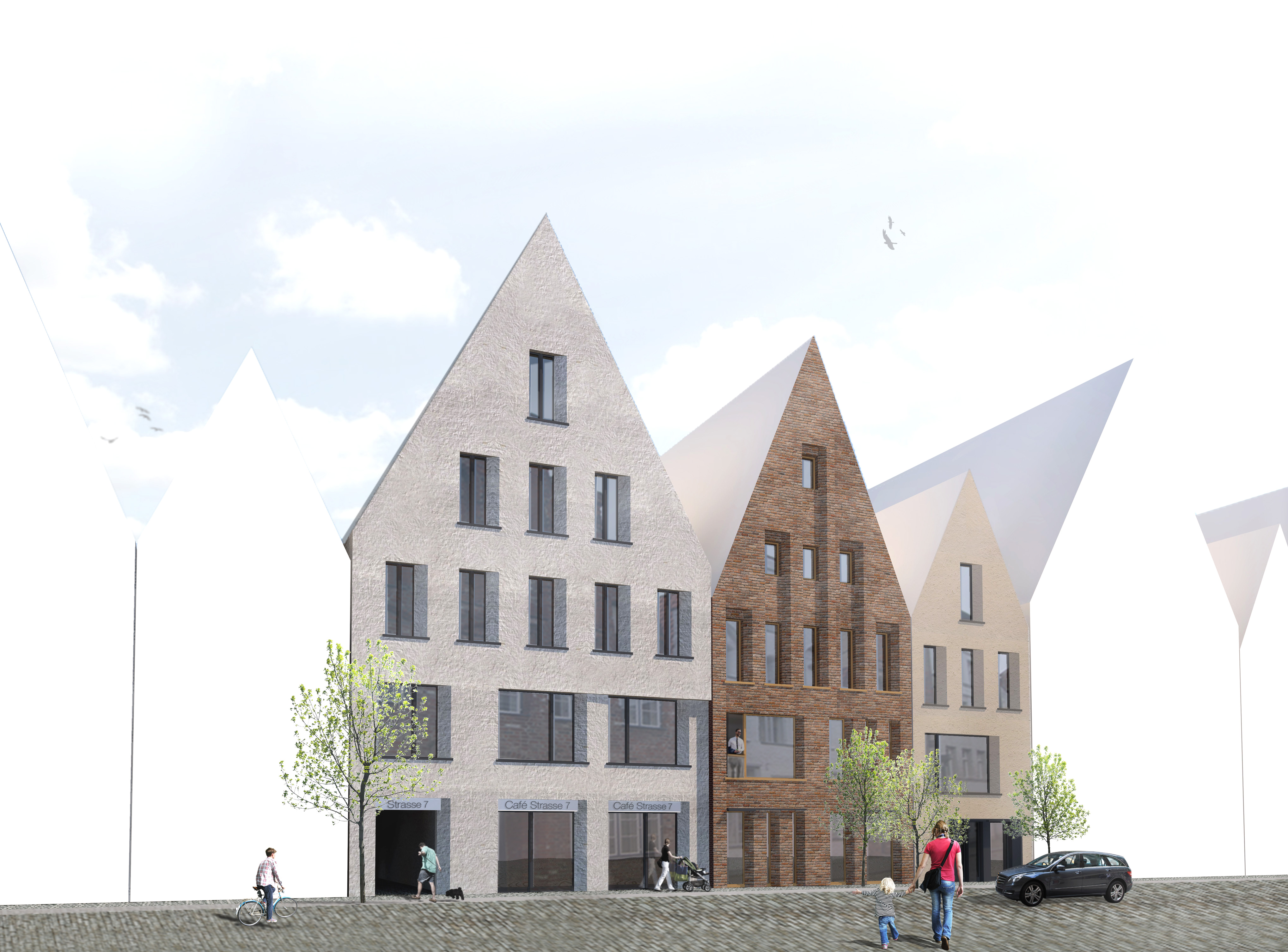 Architektur Lübeck fassadengestaltung drei stadthäusern in lübeck jess architekten